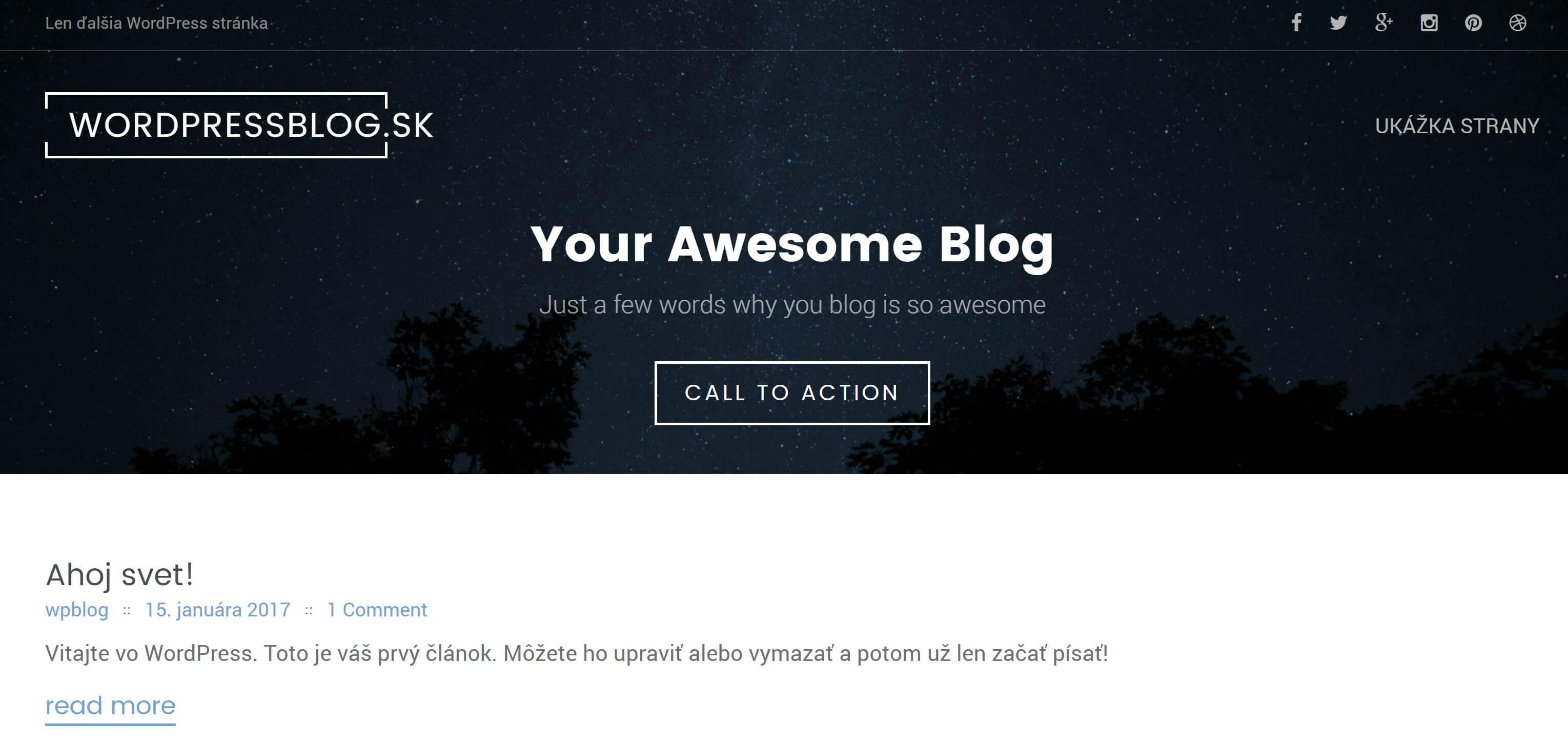 ako si založiť blog - WordPress