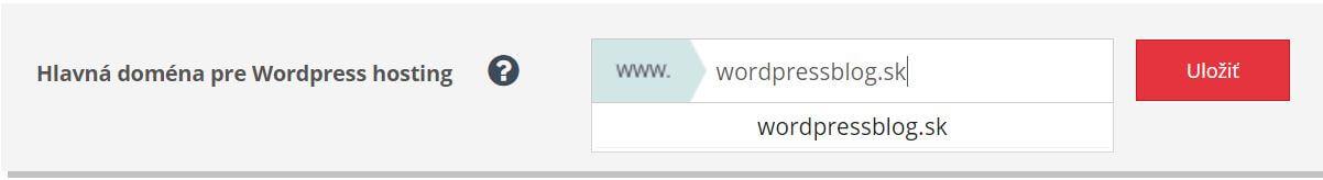 Websupport hlavná doména